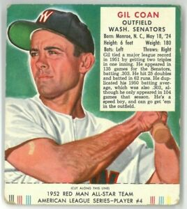1952 Red Man GIL COAN #AL4 With the Coupon - VG +