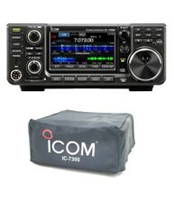 Icom IC-7300 Touchscreen 100W HF/50MHz Radio with Custom Fit IC-7300 Dust Cover
