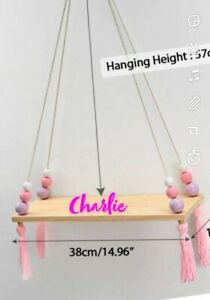Shelf Floating Shelf Jute Rope Wall Mounted Swing Shelf Picture Ledge Home...
