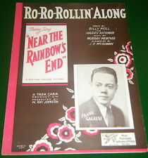 1930 Sheet Music: RO-RO-ROLLIN' ALONG from Near The Rainbow's End, VG, No Tape