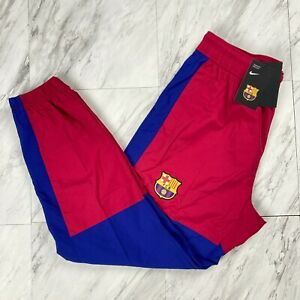 Nike FC Barcelona Men's Size Medium Woven Training Jogger Pants CW2939-620