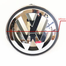 145mm Front ABS Chrome Grille Round Emblem Logo For VW Golf Jetta MK5 Passat CC