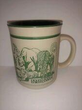 Busch Gardens coffee mug embossed Florida Extinction is forever animals