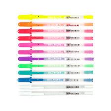 12 Sakura Gelly Roll Moonlight Fluorescent Color Gel Ink Pen | Colour Waterproof