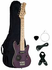 """30"""" Kids Child Electric Guitar with Built In Amp PURPLE + Gig Bag, Strap, Cable"""