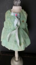 UNIQUE! ANTIQUE 1950s ERA Mint green ORGANDY SMALL DRESS for your DOLL