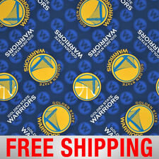 "Golden State Warriors Fleece Fabric - 60"" Wide - Style# 5021 - Free Shipping"