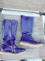 MINI BODEN Girls Purple Knee High BOOTS Size 30 Leather? US size 12