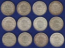 More details for switzerland, 12x half francs, 1929 - 1965, high grades (ref. t3802)