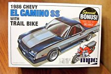 MPC 1986 CHEVY EL CAMINO SS with TRAIL BIKE 1/25 SCALE MODEL KIT
