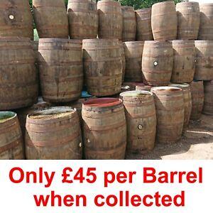 Oak Barrels, whisky & beer. 40 gallon wooden keg barrel. Ideal for gardens.