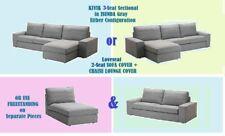 "IKEA Kivik ISUNDA Gray Loveseat,Chaise NEW Lounge,2""3 Seat Sectional""Tweed Cover"