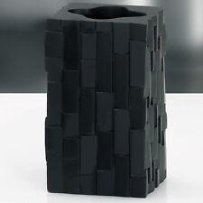 vaso cepillo de Dientes Taza Cerámica ANGERS Escobillero negro