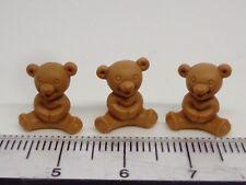 1:12 Scale  Teddy Bears x 3 Doll House Miniature Nursery ,toys