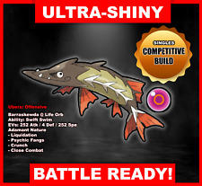 Pokemon Sword/Shield Ultra Shiny Battle Ready Barraskewda FAST DELIVERY