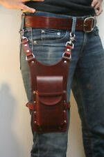 LEATHER THIGH PHONE POUCH / LEATHER THIGH CELLPHONE HOLSTER