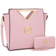 Women Faux Leather Handbag Satchel Tote Purse Work Shoulder Bag with Wallet