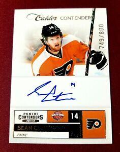 2011-12 Panini Calder Contenders #241 SEAN COUTURIER AUTOGRAPH #749/800 Flyers