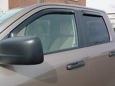 2002 - 2008 Dodge Ram Quad Cab 4-Piece In-Channel Wind Deflector Shades