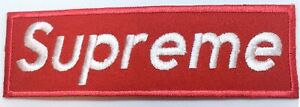 Supreme Red High Quality Fashion Brand Iron on or Sew on Embroidered Patch