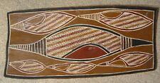 Aboriginal Bark Painting, Conch Shells, by Munjingu, Ramangining, Arnhemland