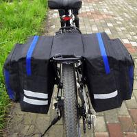 Waterproof Double Panniers Bag Bike Bicycle Cycling Rear Seat Trunk Rack Pack UK
