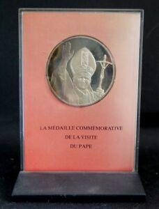 0274 - MÉDAILLE PAPALE JEAN PAUL II -Commémoration Visite du Pape en France 1980