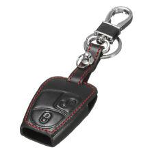 2 Button Remote Smart Key Leather Case Cover Holder For Mercedes C S CLK SLK