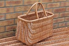 LARGE -Quality  Wicker Shopping  Basket -GIFT basket- NATURAL WICKER COLOUR