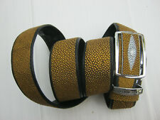 size 46,real golden Stingray skin Leather Money Back Belt 1.5x48 inches MB30H