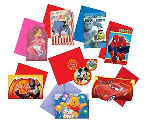 Disney Birthday Party Invitations / Invites Girls Boys Kids Children's