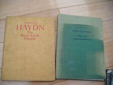 antique music related books 1 x JOSEPH HAYDN 1 x THE TREASURY OF CHRISTMAS MUSIC