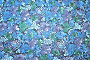 FEATHERS IN BLUES AND GREEN- 100% COTTON FABRIC