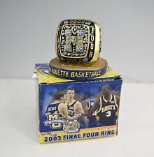 Marquette University Golden Eagles Warriors NCAA Final Four Replica Ring In Box