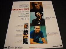 JACK JOHNSON Stevie Wonder DAMIAN MARLEY Rammstein Q-Tip 2005 Promo Ad mint