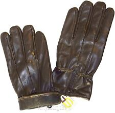Men's Leather Gloves, (XL) Zip up Men's Gloves, Winter Gloves, lined warm Gloves