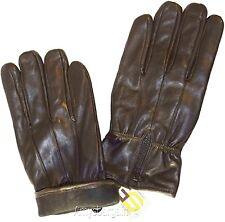 Men's Leather Gloves, (XL) Zip up Men's Gloves, Winter Gloves, lined warm Gloves
