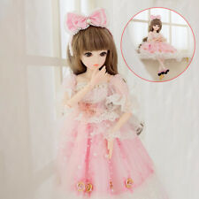 BJD Doll 1/3 60cm Ball Jointed Princess Girl Dolls With Makeup Clothes Shoes Set