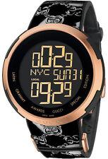 Gucci YA114102 Watch Mens Black Dial Stainless Steel Case Quartz Movement 114102