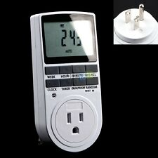 7-Days Digital Programmable Wall Plug-in Timer Switch Outlet For Home Appliance