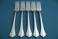 """5 Salad Forks Lenox ALCOTT 18/10 Stainless Vietnam 7 1/8"""""""