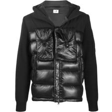 CP Company Hooded Lens Down Jacket Wool Knit Mixed IT50/M-L $715 Stone Island