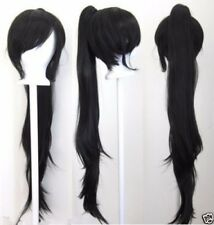 Hot Sell New 40'' Wavy Claw Clip Pony Tail Black Cosplay Wig+Wig Cap