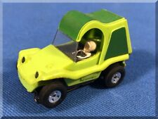 AURORA #1496 SAND VAN DUNE BUGGY 2 SHADES LIME GREEN HO SLOT CAR CHASSIS TESTED