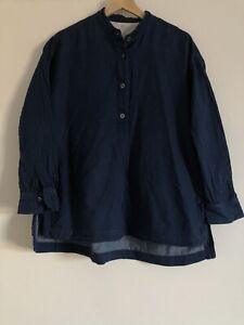 Muji Womens Blue Shirt Size XS-S