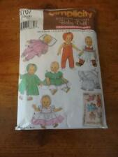 """Simplicity Archives sewing Pattern#4707-Baby Doll Clothes in 3 szs from 12""""-22"""""""