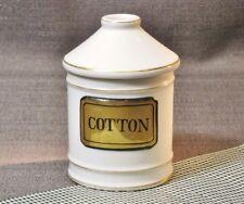 IRICE Porcelain Bathroom Cotton Ball Holder Dispenser
