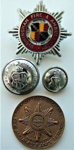 Original Birmingham Fire & Ambulance Badge. Plus Coronation Medal & Buttons.