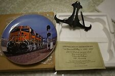 "NEW IN BOX BNSF RAILROAD PLATE ""10 YEARS AND ROLLING"" 12,705 / 45K FREE SHIPPING"