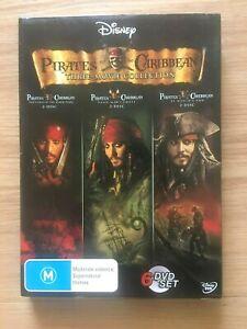 Disney Pirates Of The Caribbean: Three 3 Movie Collection (AU Region 4, 6 disc)